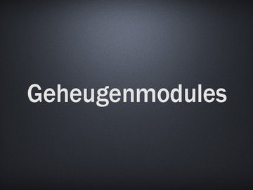 Geheugenmodules