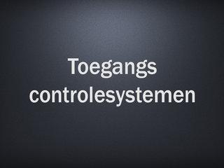Toegangscontrolesystemen