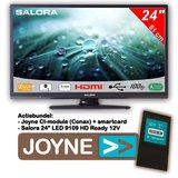 """Salora 24"""" LED 9109 DVB C/T2/S2 HDr 12V + Joyne CI Bundel_"""