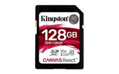 Kingston Technology SD Canvas React flashgeheugen 128 GB SDXC Klasse 10 UHS-I