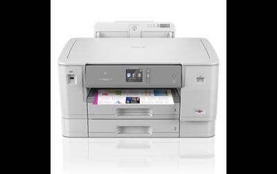 Brother HL-J6000DW Professionele, betrouwbare en draadloze A3 kleureninkjetprinter met hoge capaciteit inktcartridges en twee papierladen.