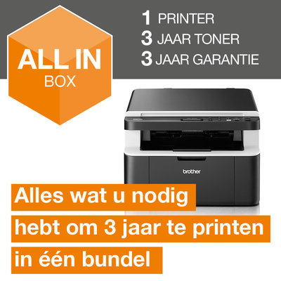Brother DCP-1612W all-in-one draadloze zwart-witlaserprinter All-in-Box bundel