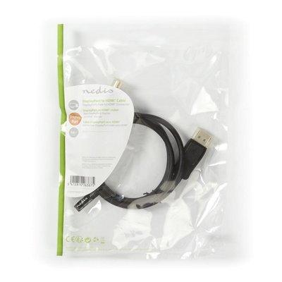 Nedis CCGP37100BK10 DisplayPort kabel 1m HDMI Zwart