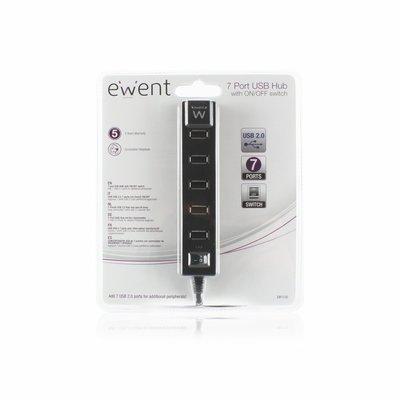 Ewent EW1130 480Mbit/s Zwart hub & concentrator