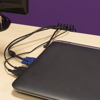 Ewent EW1565 kabelbeheersysteem Kabelhouder Bureau Zwart 2 stuk(s)