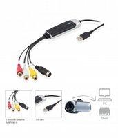 Ewent EW3706 kabeladapter/verloopstukje USB 2.0 S-Video/Composite AV Zwart, Grijs, Rood, Wit, Geel