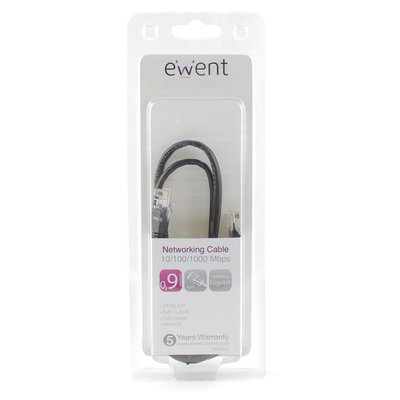 Ewent EW9525 netwerkkabel 0,9 m Cat5e U/UTP (UTP) Zwart