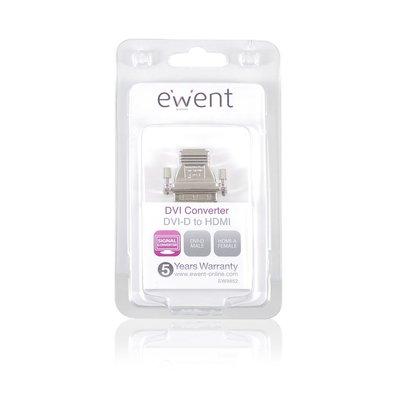 Ewent EW9852 kabeladapter/verloopstukje DVI-D HDMI Zilver
