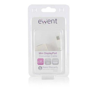 Ewent EW9861 kabeladapter/verloopstukje DisplayPort HDMI Wit