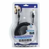 HQ 2.5m HDMI Ethernet HDMI kabel 2,5 m HDMI Type A (Standaard) Zwart