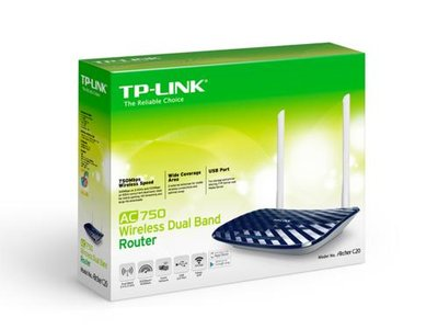 TP-LINK AC750 Dual-band (2.4 GHz / 5 GHz) Fast Ethernet Zwart, Wit draadloze router
