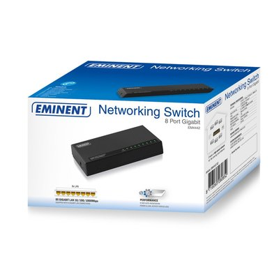 Eminent EM4442 netwerk-switch Gigabit Ethernet (10/100/1000) Zwart