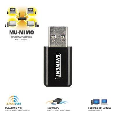 Eminent EM4536 netwerkkaart & -adapter WLAN 900 Mbit/s