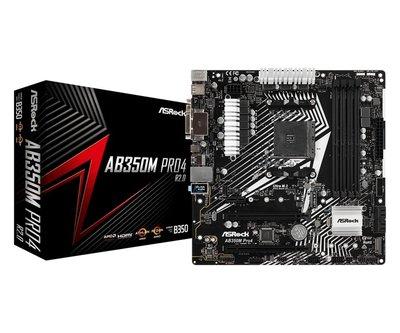 Asrock AB350M Pro4 R2.0 moederbord Socket AM4 Micro ATX AMD B350