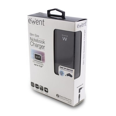 Ewent EW3985 netvoeding & inverter Universeel 65 W Zwart