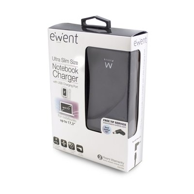 Ewent EW3988 netvoeding & inverter Universeel 90 W Zwart