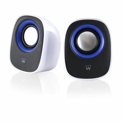 Ewent EW3513 Stereo portable speaker 5W Zwart, Blauw, Wit draagbare luidspreker