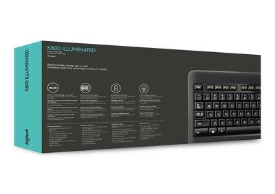 Logitech K800 toetsenbord RF Draadloos QWERTY US International Zwart