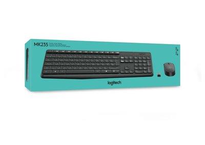 Logitech MK235 toetsenbord RF Draadloos QWERTY US International Grijs