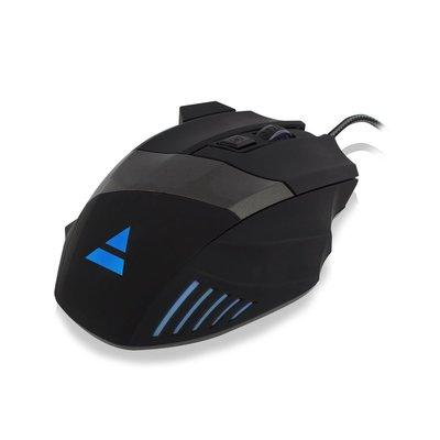 Ewent PL3300 muis USB Optisch 3200 DPI Rechtshandig Zwart