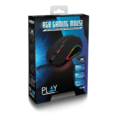 Ewent Play PL3301 muis USB Optisch 4800 DPI Rechtshandig
