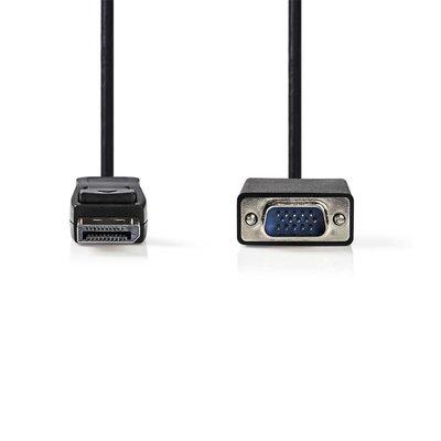 Nedis CCGP37300BK20 video kabel adapter 2 m DisplayPort VGA Zwart