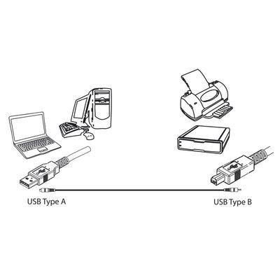 Ewent EW9626 USB-kabel 5 m 2.0 USB A USB B Zwart