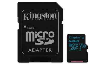 Kingston Technology Canvas Go! flashgeheugen 64 GB MicroSDXC Klasse 10 UHS-I