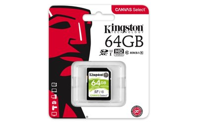 Kingston Technology Canvas Select flashgeheugen 64 GB SDXC Klasse 10 UHS-I