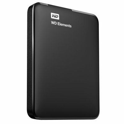 Western Digital Elements Portable 2.5 Inch externe HDD 2TB, Zwart