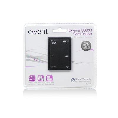Ewent EW1074 Zwart geheugenkaartlezer