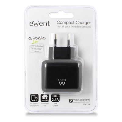 Ewent EW1300 oplader voor mobiele apparatuur Binnen Zwart