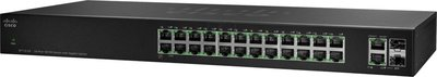 Cisco SF112-24 Unmanaged L2 Fast Ethernet (10/100) Zwart 1U