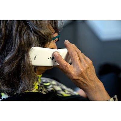 Fysic FM-9710WT Senioren mobiele klaptelefoon, wit