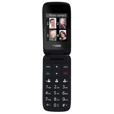 Fysic FM-9710RD Senioren mobiele klaptelefoon, rood