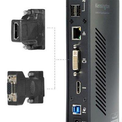 Kensington SD3500v 5 Gbps USB 3.0 dubbel 2K dockingstation - HDMI/DVI-I/VGA - Windows