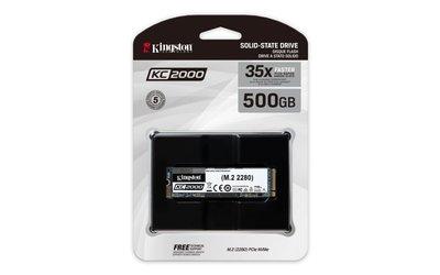Kingston SSD KC2000 500GB NVMe M.2  BULK