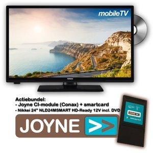 "Nikkei NLD24MSMART 24"" 12V LED DVD + Joyne CI-Bundel"
