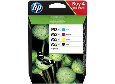 HP 953XL Multipack zwart en kleur (Origineel Hoge Capaciteit)