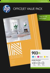 HP 903XL multipack kleur (Origineel Hoge Capaciteit)